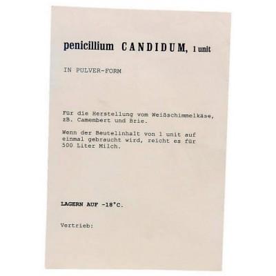 M- Penicillium CANDIDUM- kultura pro sýry s bílou plísní, prášková forma