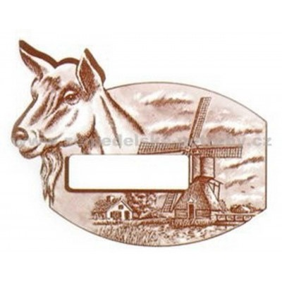 M- Etiketa s kozou na sýr 500ks