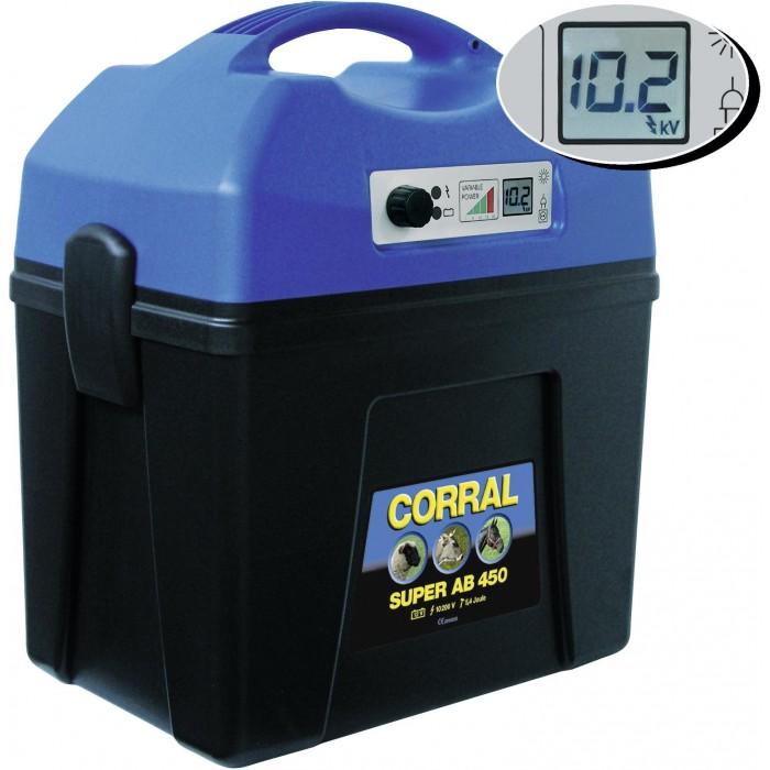 Elektrický ohradník - Ohradníkový zdroj akumulátorový Corral Super AB450 DIGITAL