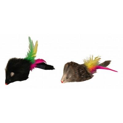 Chlupatá myš s dlouhým chlupem, 6cm, poslední kus