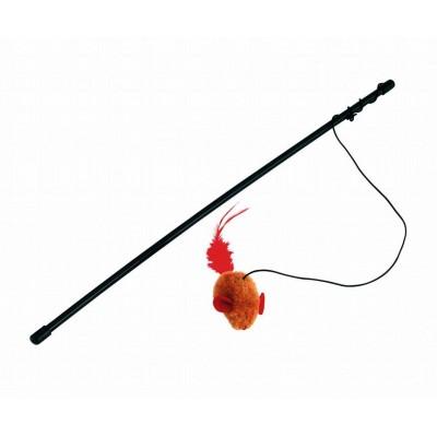 Hračka myška na tyčce, 48cm