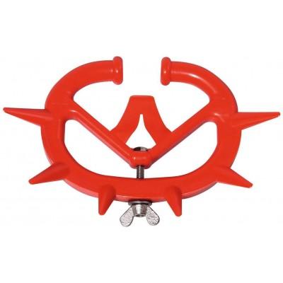 Kruh proti sání telata, mladý skot, plastový MULLER, červený