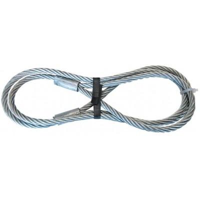 Drátěné lano s 2 smyčkama _12mmx2m, tažná síla 1250kg