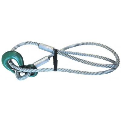Drátěné lano se smyčkou a hákem _12mmx2m, tažná síla 1250kg