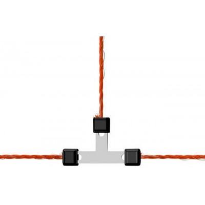 Litzclip na lanko, 3mm, T, galvanizovaný, 5ks