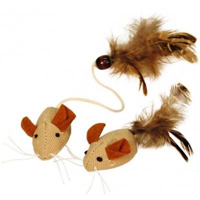 Myš s přírodním peřím, 4,5cm