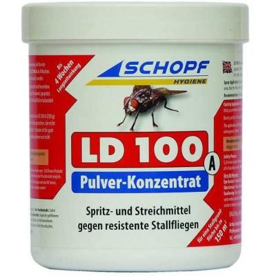 LD 100 A práškový koncentrát k hubení much ve stáji, Azamethiphos 10%, 250g, červený