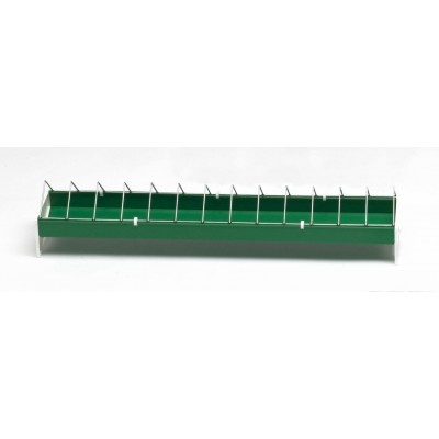 Žlabové krmítko s drátěným víkem pro drůbež 50 cm plast