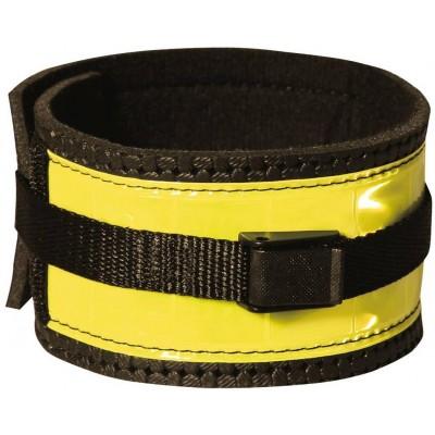 Reflexní pásek černo-žlutý, suchý zip, pár, pro koně L