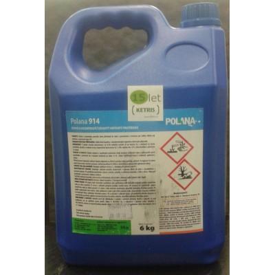 Nepěnivý čisticí a dezinfekční prostředek určený pro potravinářský průmysl Polana 914, koncentrát, 6 kg