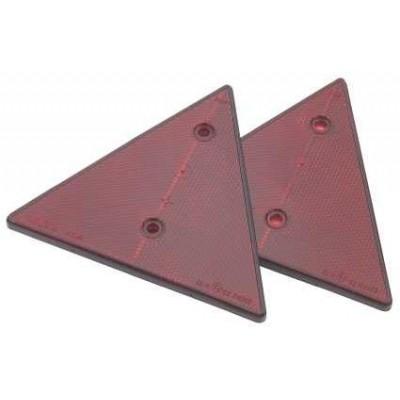 Reflektor retro triangular , se dvěma držáky