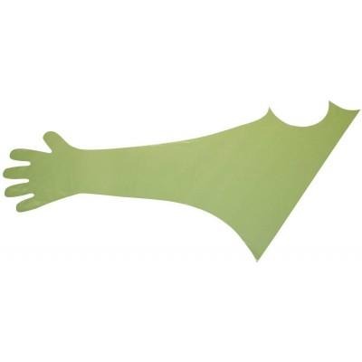 Rukavice veterinární jednorázové, zelené, ramenní, 120cm, 50ks