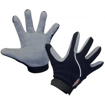 Rukavice s fleecem , modrá/šedá vel.XL, poslední kusy