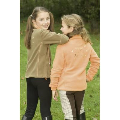 Mikina Fleecová Covalliero FLIO dětská 116 béžová/oranžová, poslední kus