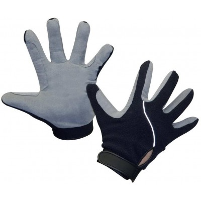 Rukavice s fleecem , modrá/šedá vel.XS, poslední kus