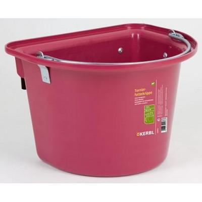 Vědro stájové s kovovým držadlem, závěsné, rosé 12l