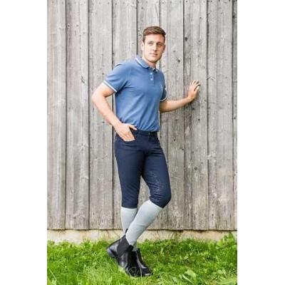 Jezdecké kalhoty CoolStar FS, pánské, tmavě modré, 50, poslední kusy