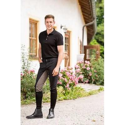 Jezdecké kalhoty - rajtky TECHNO, černé, 48