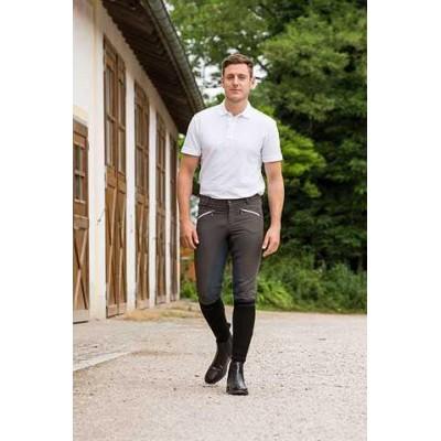 Jezdecké kalhoty - rajtky DETROIT, pánské, šedá,48, poslední kusy