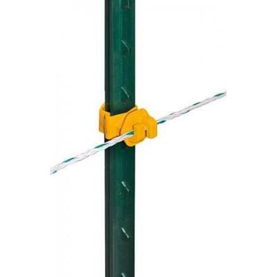 T-sloupek izolátor pro lanka, žlutý