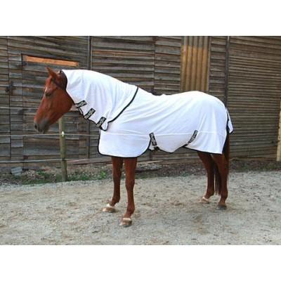 Deka pro koně RugBe SuperFly - deka proti hmyzu s odnímatelným nákrčníkem, bílá, 155 cm / 205 cm