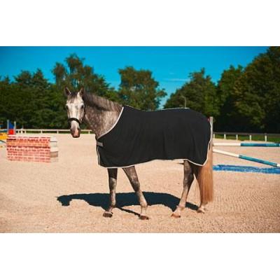 Deka pro koně RugBe Economic, flísová, černá, 125 cm / 175 cm