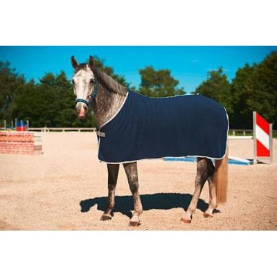 Deka pro koně RugBe Economic, flísová, modrá, 135 cm / 185 cm