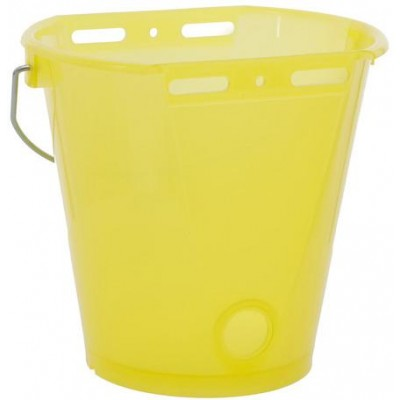 Napájecí kbelík pro telata, plast, průhledný žlutý, 8l