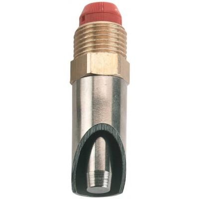Napajecí ventil mosaz/nerez 1/2-68mm, se sítkem, 3-stupňový ventil přítoku, pro prasata