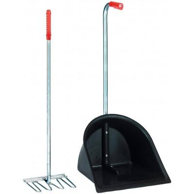 Lopata se škrabákem MISTBOY černá 78x34x29 cm, ideální použití při transportu koní