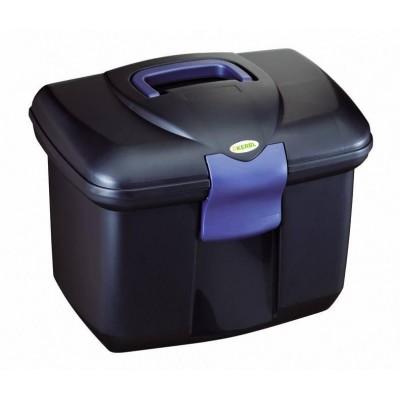 Box plastový, na čistící potřeby, tm.modrý